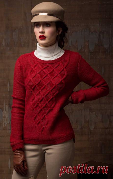 Вязаный пуловер MassachusettsAve | ДОМОСЕДКА