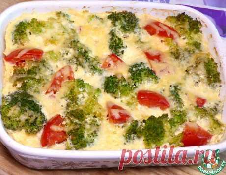 Запеканка с курицей и капустой брокколи – кулинарный рецепт