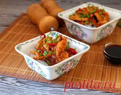 Фунчоза с курицей в кисло-сладком соусе - пошаговый рецепт с фото на Повар.ру