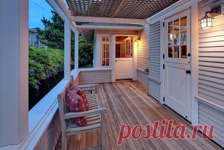 Как сделать крыльцо дома более уютным: 6 простых идей в фотографиях | Вдохновение (Огород.ru)