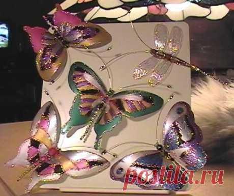 Делаем бабочек из пластиковых бутылок - Поделки с детьми | Деткиподелки