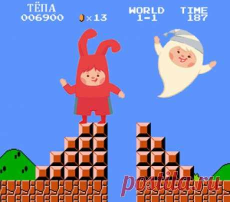 Инсценировка детской песенки «Компьютерная игра» Эта веселая музыкальная сценка познакомит малышей со значением слов, используемых для ориентирования в пространстве: вверх, вниз, вперед и назад, а также расскажет про веселое колдовство маленького волшебника Невидимки и удивительные приключения Тёпы внутри компьютерной игры.