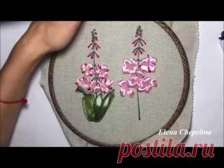 Иван-чай вышитый лентами / Fireweed embroidered ribbons
