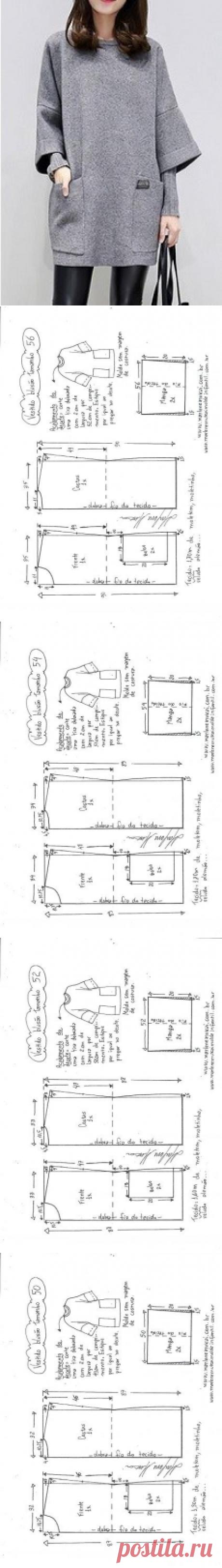 Свитер с капюшоном - DIY - плесень, вырезка и шьют - Marlene Mukai