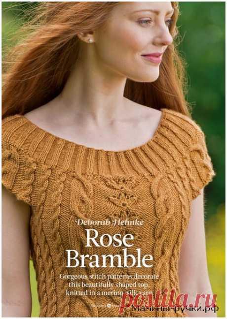 Вязаный спицами топ Rose Bramble. Схемы и описание - Модели спицами для нас красивых - Мамины ручки