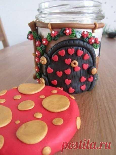 Декорируем баночки — DIYIdeas