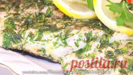 Рыбное филе в лимонно-укропной панировке -