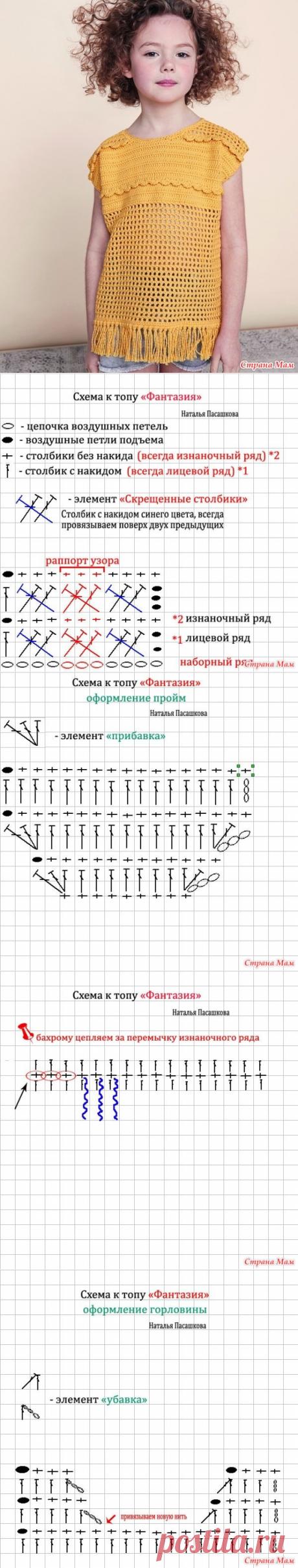 """Вяжем топ """"Фантазия""""! - Вяжем вместе он-лайн - Страна Мам"""