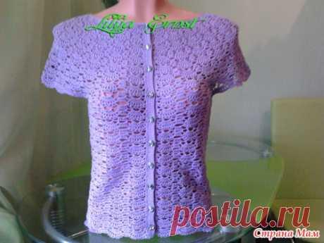 Блуза, цвета сирени - Вязание - Страна Мам