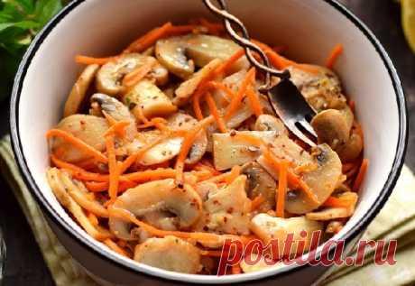 Шампиньоны по-корейски рецепт ⋆ Кулинарная страничка Шампиньоны по-корейски — закуска, которая может имеет разные вкусы, в зависимости от выбранных пряностей. Предложенный рецепт считается базовым, он включает минимальное количество дополнительных компонентов, которые всегда можно дополнить....