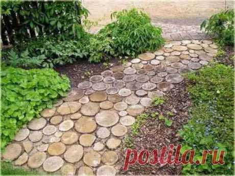 ¡Las eko-sendas de jardín de spilov del árbol – barato y simplemente!!! | 6 sotok