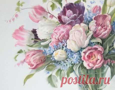 Graphics \/ Bazanova Elena Serafimovna (flowers)