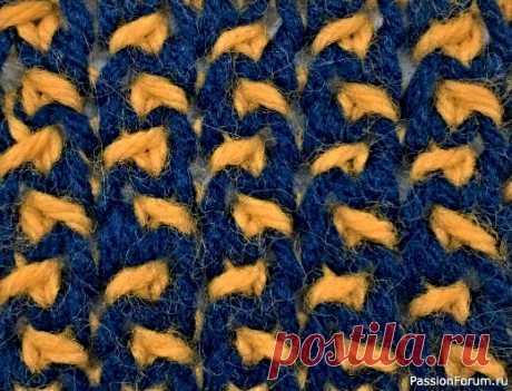 Узор ''В крапинку''. Видео МК | Вязание спицами для начинающих Мозаичный, цветной.
