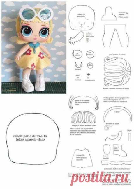 Куколка Лол из фетра handmade Куколка Лол из фетра handmade. Творите с удовольствием.