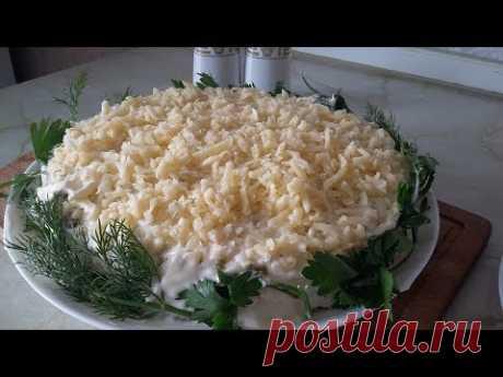 Печёночный торт. Торт из печени с сыром. Цыганка готовит.