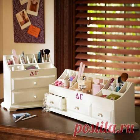 La organización del almacenaje de la cosmética