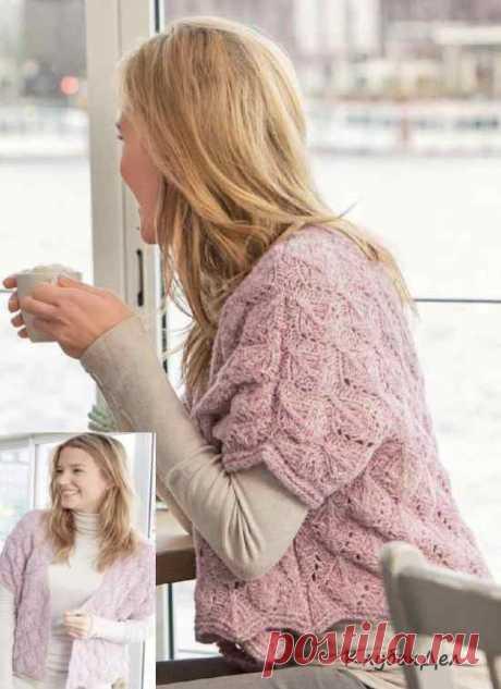 Ажурный жилет спицами для женщин. Схемы и описание вязания