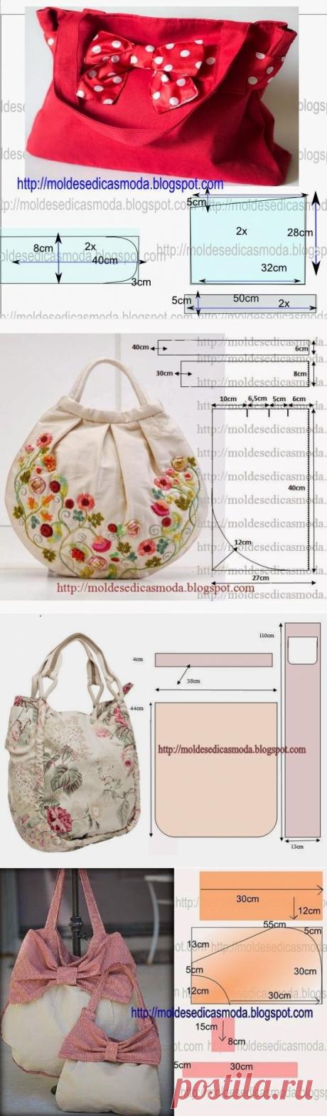 Подборка выкроек летних сумок (Шитье и крой)   Журнал Вдохновение Рукодельницы