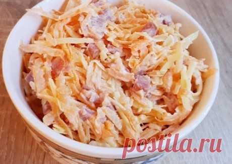 Быстрый и вкусный салат с копчeной колбаской — СОВЕТ !!!