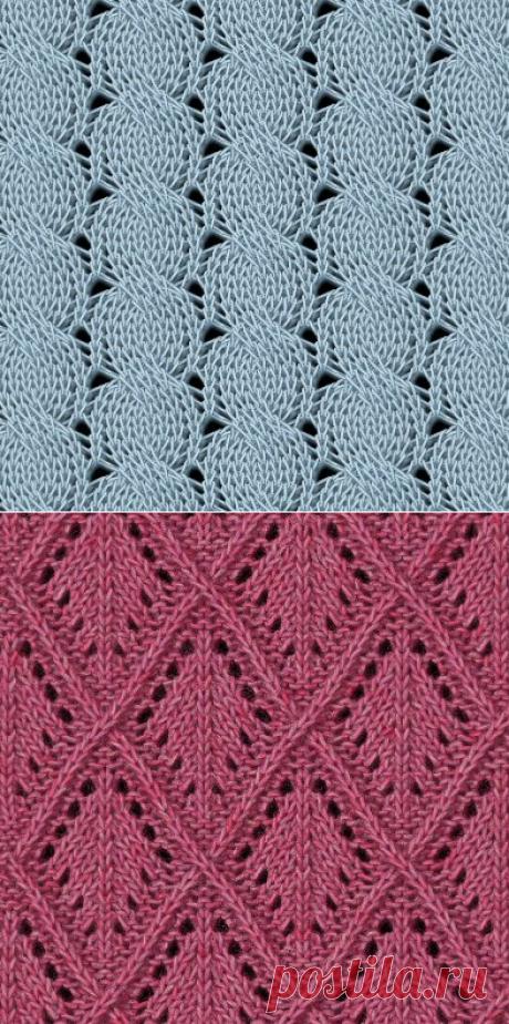 Узоры спицами (46 узоров со схемами)