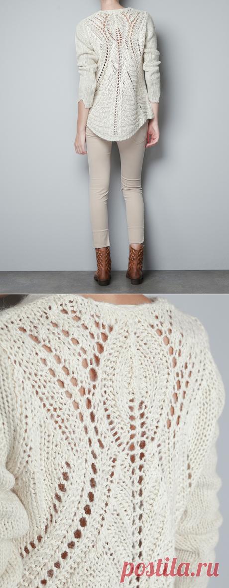 Zarazitelny openwork - a sweater spokes