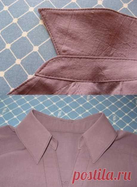 Мастер-класс по рубашечному воротнику — Сделай сам, идеи для творчества - DIY Ideas
