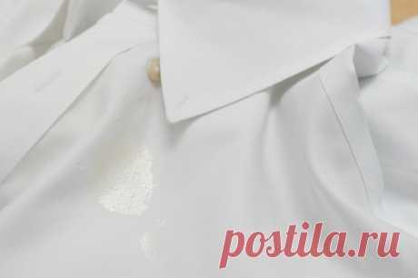 Как удалить масляные пятна с одежды