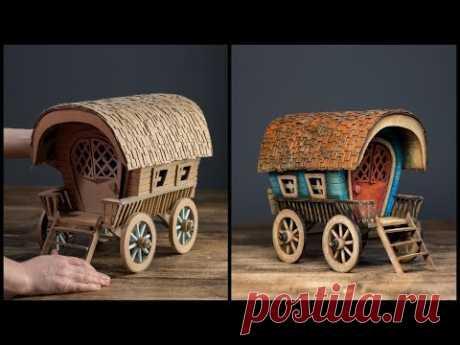 ❣DIY Vardo Wagon Using Cardboard❣