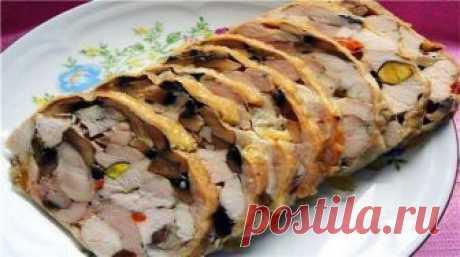 Белковый рулет из куриного мяса для худеющих Вкусно и полезно!