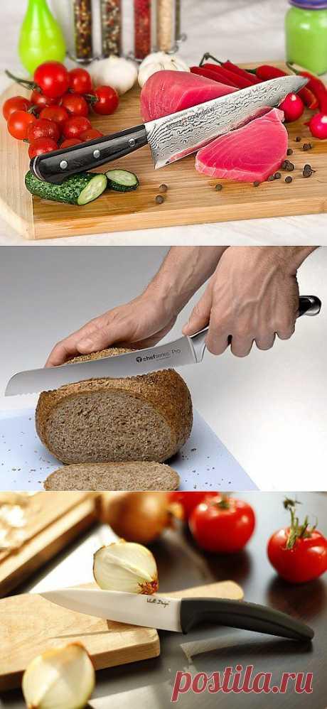 Три основных ножа, которые должны быть на кухне.