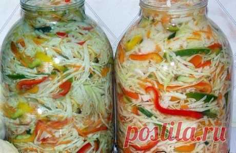 Капустный салат на зиму «Осенний» | Школа вкуса — Школа вкуса