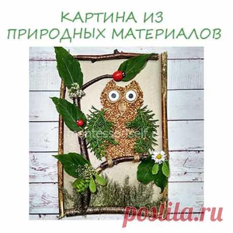 Картина из природных материалов: мастер-класс с пошаговым фото