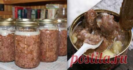 Для тех, кто очень любит нежное мясо! Сочная домашняя тушенка Не ленитесь! Порадуйте своих близких мясом, которе тает во рту!