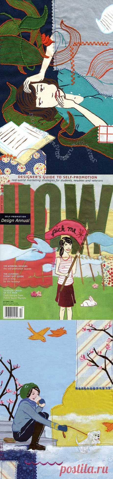 Juxtapoz Handmade - Caroline Hwang (трафик) / Пэчворк / Модный сайт о стильной переделке одежды и интерьера