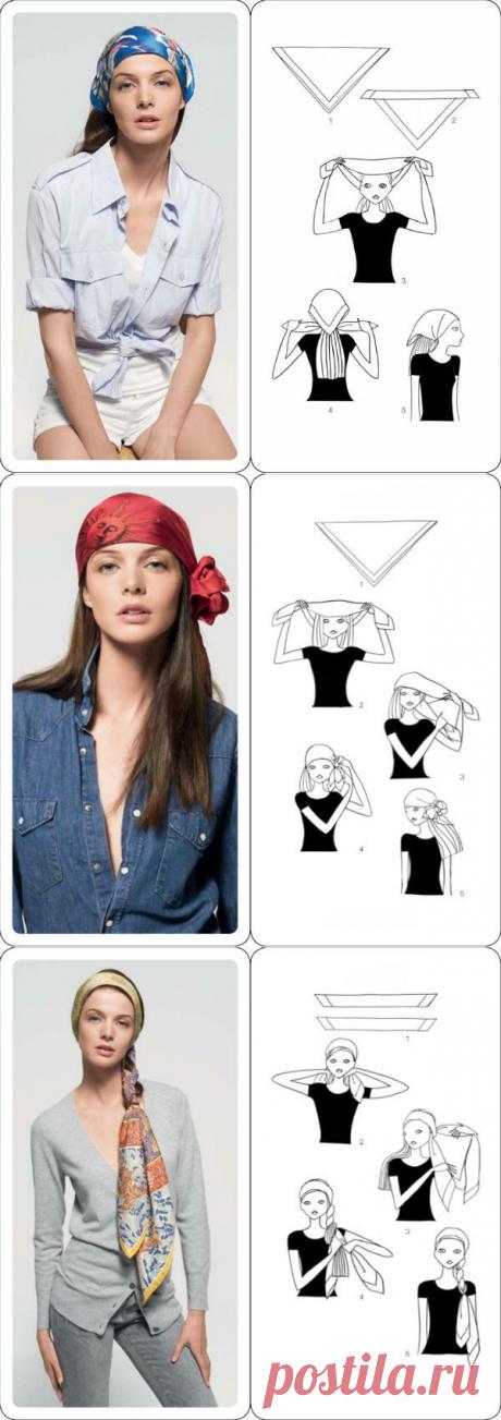 Как завязать платок на голове разными способами (Фото)