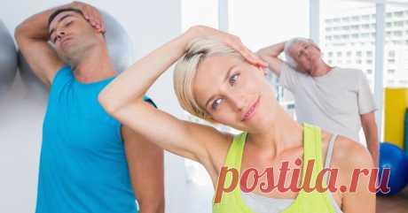 6 минутных упражнений для здоровья шеи. Шейный остеохондроз тихо уйдет... Расслабь мышцы, сними спазмы.