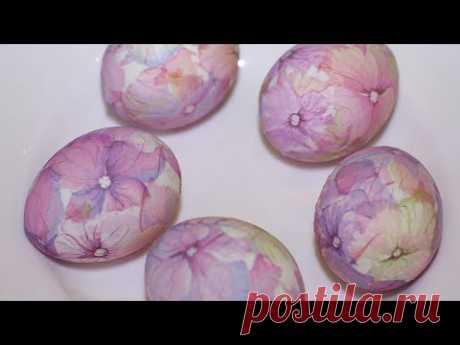 Необычные пасхальные яйца! Как окрасить не используя краситель! Декупаж. Easter eggs decoupage