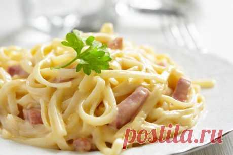 Макароны с ветчиной в сливочном соусе — Sloosh – кулинарные рецепты