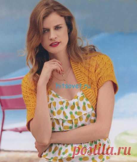 Болеро спицами модные модели со схемами и описанием - Страница 2 из 5