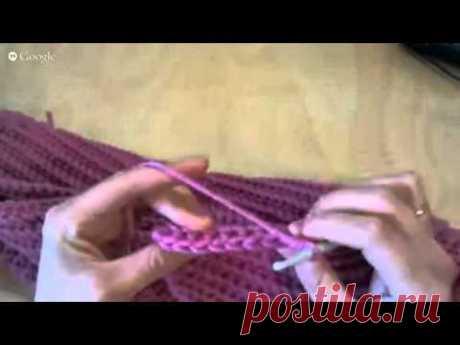 Эффектный узор столбиками без накида