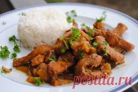 Невыразимая легкость кулинарного бытия... Свинина с баклажанами по-доминикански.