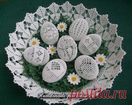 Схемы обвязки крючком пасхальных яиц. Идеи и схемы вязания » Женский Мир
