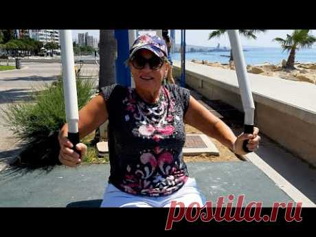 Тренажеры на набережной Молос. Кипр, Лимассол. YouTube