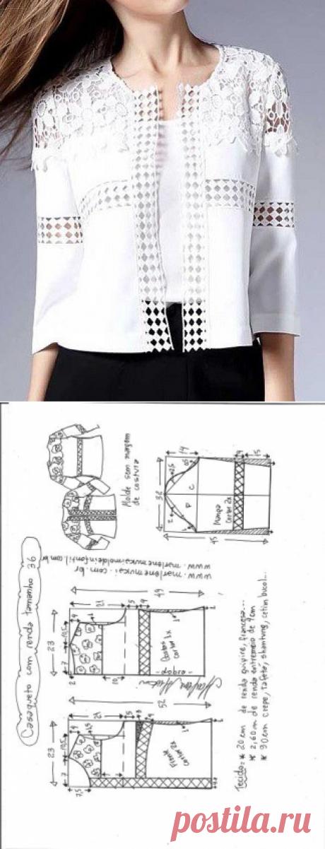 Casaqueto с вставку | DIY прессформа, вырезывание и шить - Марлен Mukai