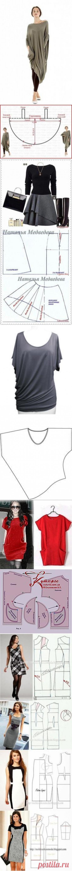 (87) Cortar y coser vestidos de silueta recta, con mangas cortas y grandes bolsillos - casa las mamás   выкройки