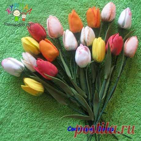 Тюльпаны мастер класс из фоамирана » Журнал для мам и детей
