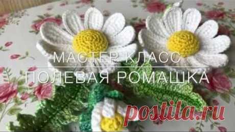 💖Мастер класс💖 «Полевая ромашка» тунисское вязание.