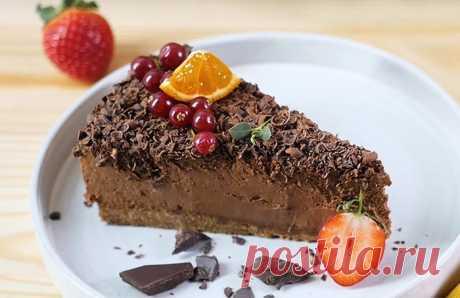 Шоколадный нежный чизкейк (без выпечки) + видео