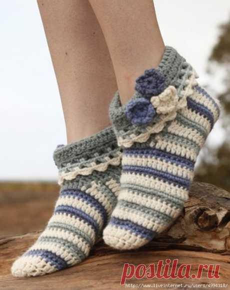 Тапочки-носочки «Анабель» от Drops Design