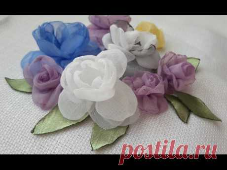 Как сделать красивые цветы из ткани. Создаём красоту своими руками. - YouTube